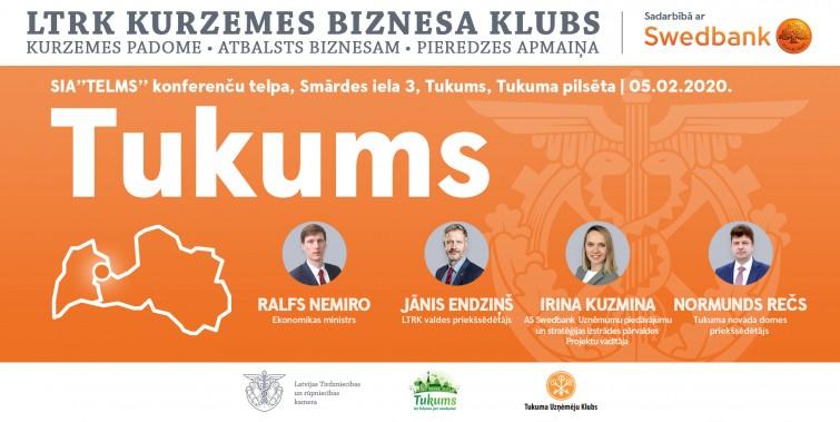 Atklātā diskusija ar Ekonomikas ministru Ralfu Nemiro plakāts